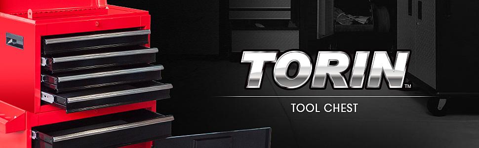 Torin Rolling Garage Workshop Tool Organizer: Detachable 4 Drawer Tool Chest