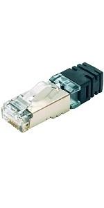 パンドウイット 太径用シールドプラグ LANコネクタ 100個入り SPS6X88-C