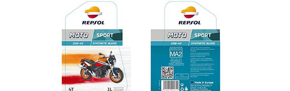 Repsol RP180N51 Moto Sport 4T 10W-40 Aceite de Motor, 1 L: Amazon ...