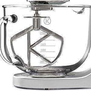 glass bowl mixer