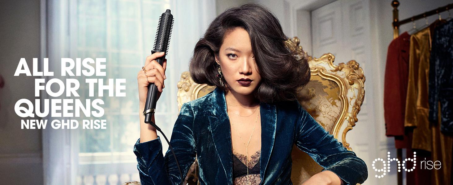 hot hair brush, professional hot brush, ghd rise hot brush, hot air brush hair straightener, ghd