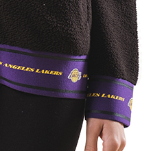 Ultra Game NBA Women's Full Zip Sherpa Jersey Hoodie with Team Logo Lightweight, breathable stay-dry