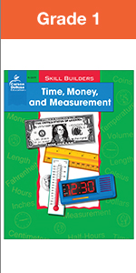 time, money, and measurement workbook for grade 1