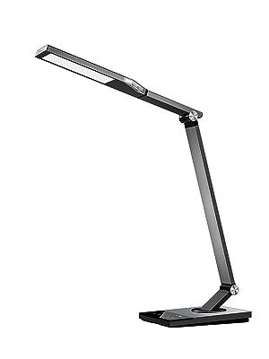 Taotronics Tt Dl16 Stylish Metal Led Desk Lamp Office Light With 5v 2a Usb Port 5 Color Modes 6 Brightness Levels Touch Control Timer Night Light Philips Enabled Licensing Program Home Improvement