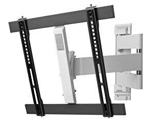 """One For All WM6451, Soporte de pared para TV de 32 a 60"""" Giratorio 180° Peso máx. 40kg, Para todo tipo de TVs LED, LCD, Plasma, gris/blanco: Amazon.es: Electrónica"""