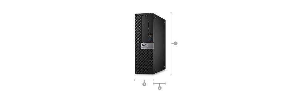 Dell KKD12 OptiPlex 5050 Small Form Factor Desktop, Intel Core i5-7500, 8GB RAM, 256GB SSD, Black