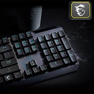 HP MSI Vigor GK50 Low Profile Gaming Keyboard Negro, (teclado alemán, QWERTZ)