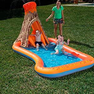 Bestway 53063 - Piscina Hinchable Infantil Isla Volcano Splash ...