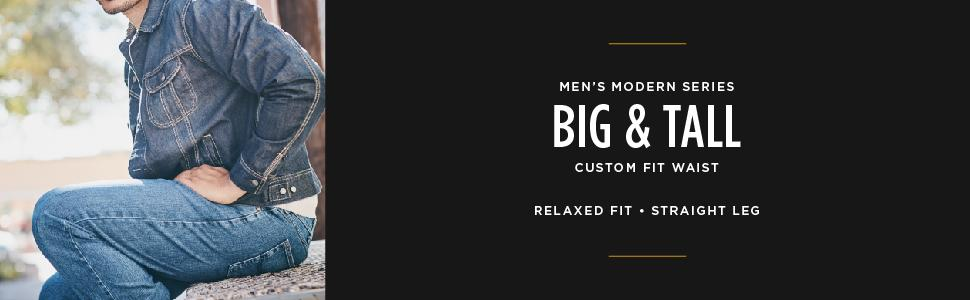 4b883c88 Amazon.com: LEE Men's Big-Tall Modern Series Custom-fit Relaxed ...