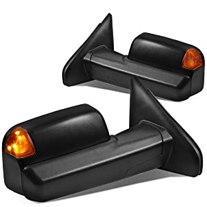 DNA Motoring TWM-040-T888-BK-AM Left+Right Side Powered+Heated+LED Turn Signal Towing Mirror