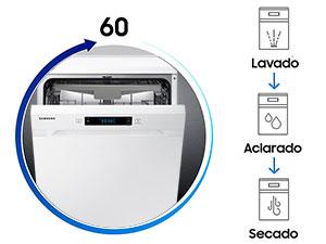 Samsung - DW60M6050FW Independiente 14cubiertos A++ lavavajilla ...
