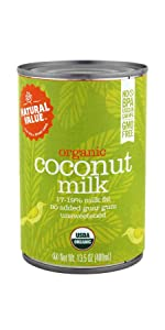 organic natural value coconut milk