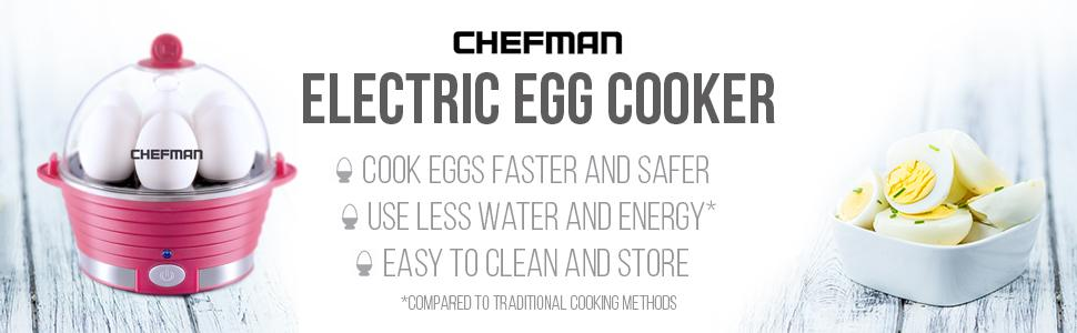 electric egg boiler;cooker;hard boiled;poacher;steamer;;6 egg capacity;rapid;countertop;poaching