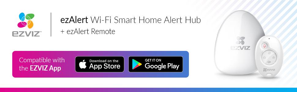 EZVIZ ezAlert Wireless Smart Home Alarm Hub with: Amazon co