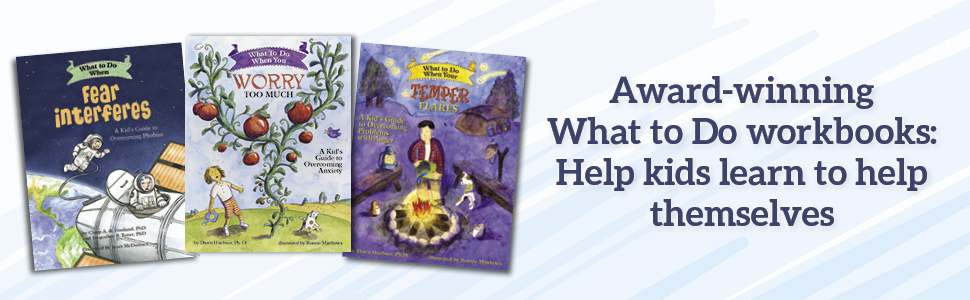 Award-winning What To Do workbooks banner ad help kids learn to help themselves