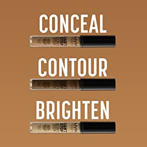 NYX Professional Makeup can't stop won't stop concealer conceal contour brighten