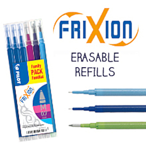 FriXion refills cartridges refill pens pen erasable ink