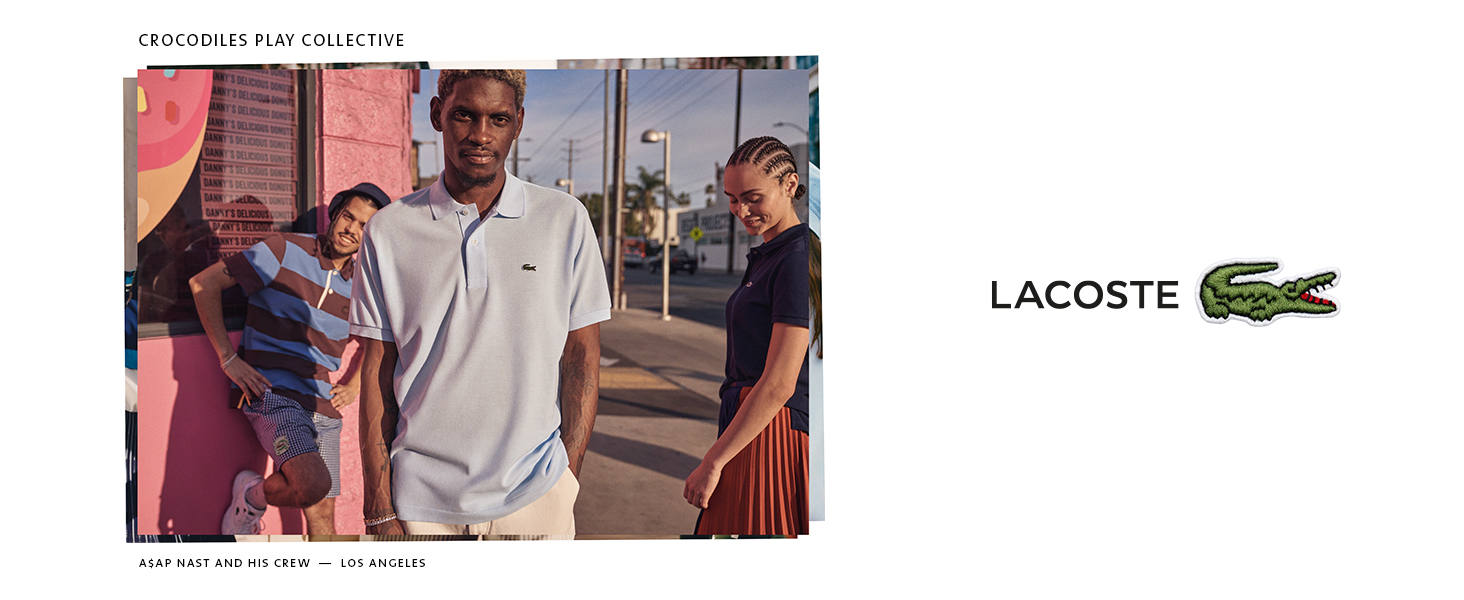 ASAP Nast in Lacoste Classic Sky Blue Polo