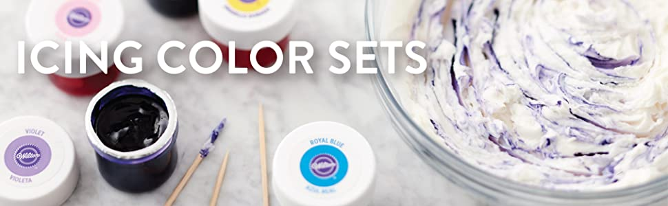 Wilton, gel-based icing color, tinted icing, icing coloring, icing colors, food coloring