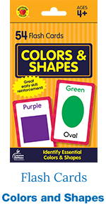 colors and shapes flash cards