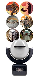 the mandalorian star wars projectables led night light