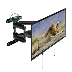 TM Electron TMSLC145 Soporte de Pared Universal inclinable Giratorio con Brazo Doble para monitores o televisores LED, OLED, LCD, Plasma de 32