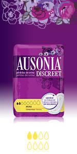 Protegeslips AUSONIA DISCREET, Compresas AUSONIA DISCREET Mini ...
