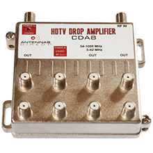 Distribution amplifier, amplifier, CDA8, splitter for TV, antenna amplifier, antenna splitter