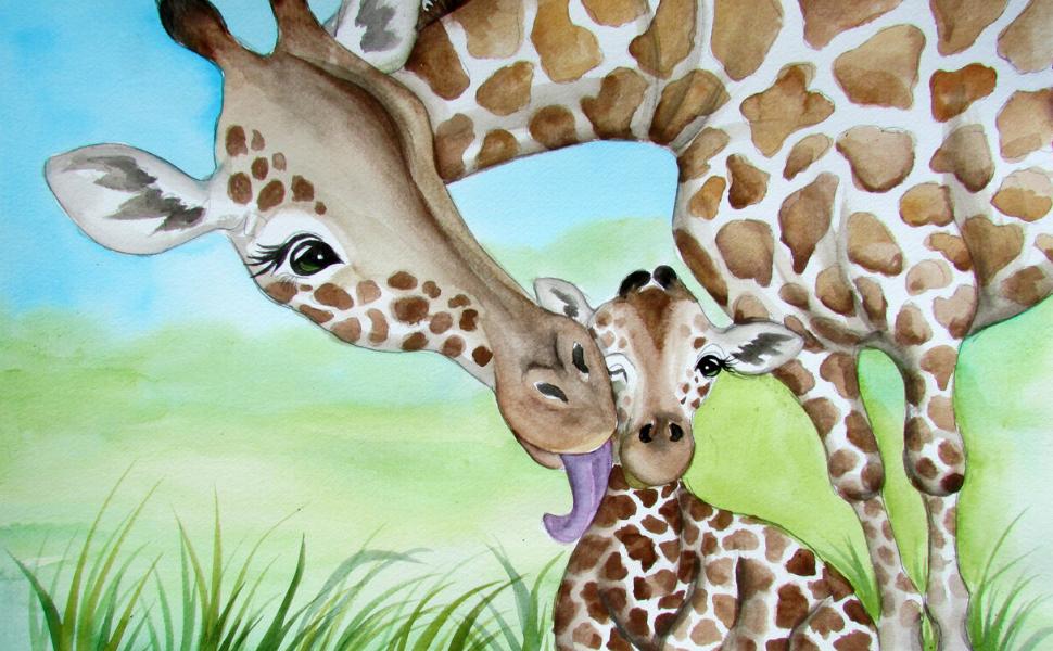 giraffe book for children kids mothers unconditional love