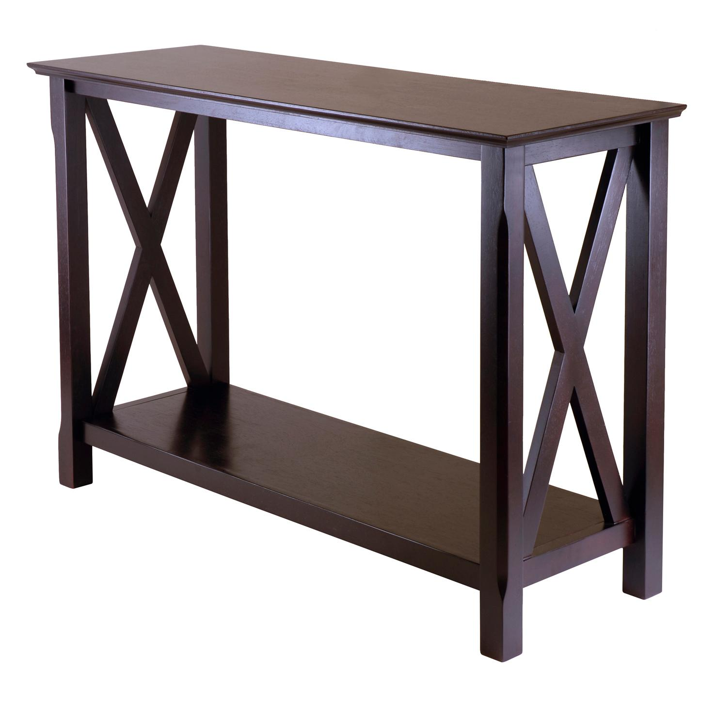 Amazoncom Winsome Wood Xola Console Table Kitchen Dining