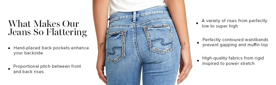 SILVER JEANS CO WOMENS JEANS