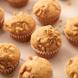 Wilton, Recipe Right 24 Cup Mini Muffin Pan, banana walnut muffins, breakfast treats