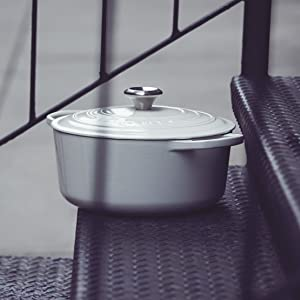 Le Creuset Dutch Oven shown in White