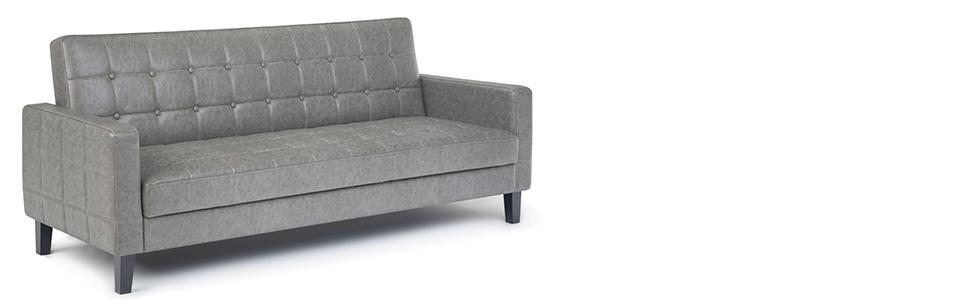 Amazon.com: Simpli Home AXCSOF-06-TP Acton Contemporary 79 x ...