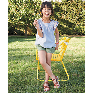 girl wearing sandals