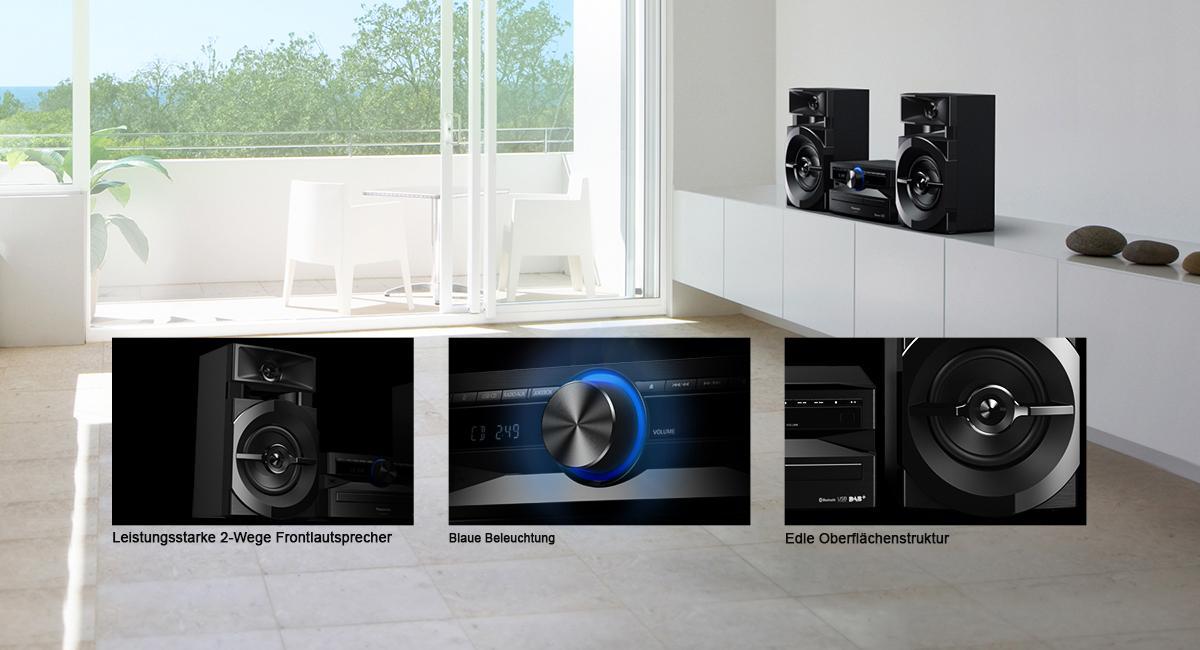 Panasonic SC-UX104EG-K CD-Micro-Musik DAB+/FM schwarz
