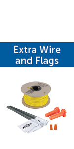 500 feet 20 gauge wire durable flags splice kits gel capsules 1/3 acre coverage petsafe extreme dog