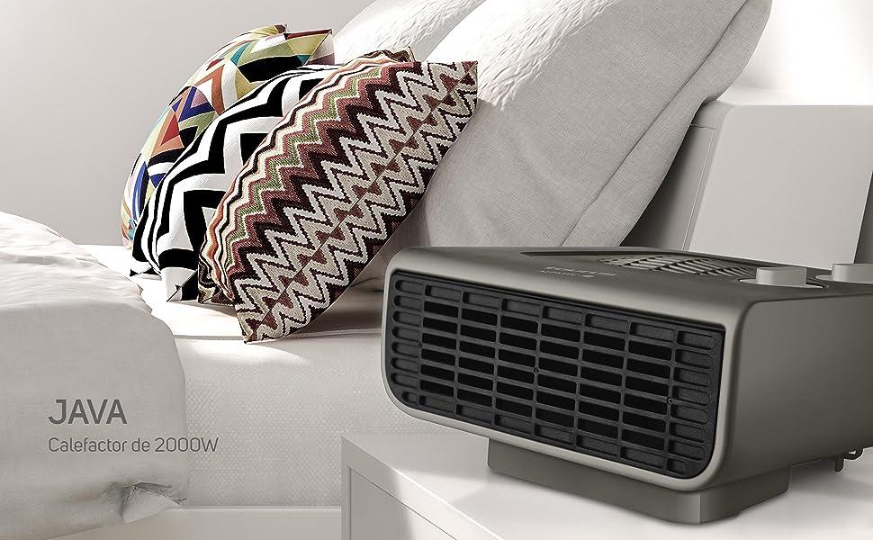 calefactor calor termostato caliente ventilador elegante