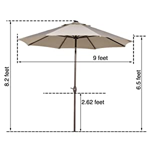 9 Ft, 9 Feet, 9u0027 Patio Umbrella