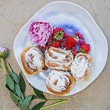 serveware plate blue dish tye dye coastal dinner plate ceramic serving piece platter