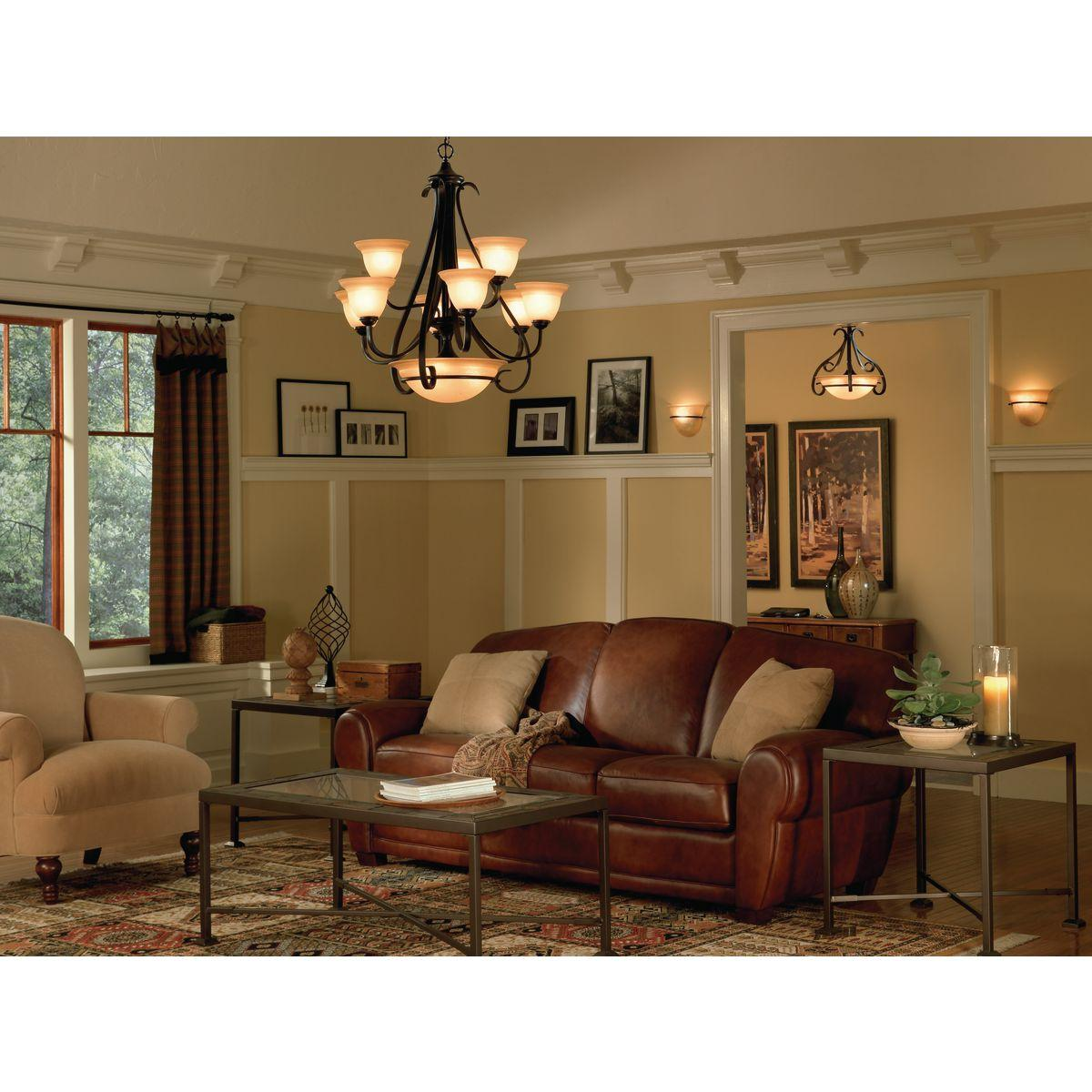 progress lighting p4418 77 9 light two tier torino chandelier