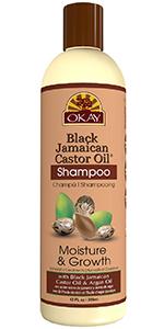 OKAY Black Jamaican Castor Oil Shampoo Moisture & Growth 12oz