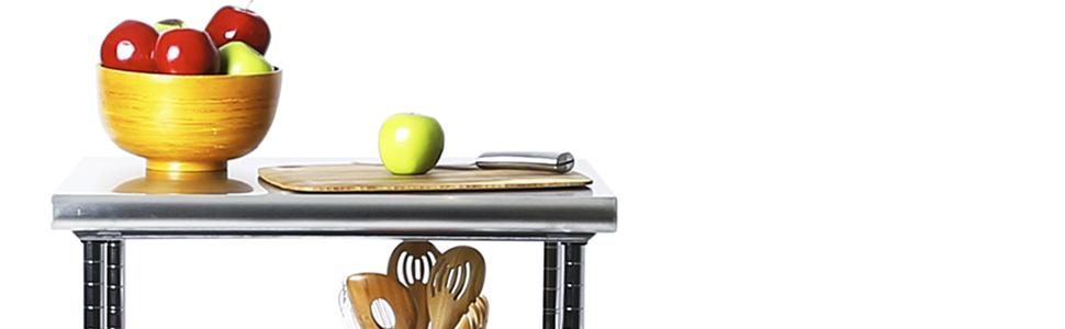 storage shelf shelving table NSF USA chrome zinc worktable workbench work kitchen restaurant chefs