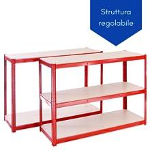 scaffalatura con struttura regolable