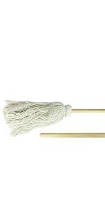 One-Piece Deck Mop, 7 oz., 4-Ply Cotton, Industrial Grade