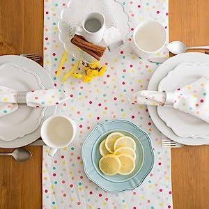 multicolor napkins,shower napkins,pokadot birthday,polka dots,dii oversized 20x20,linen napkins