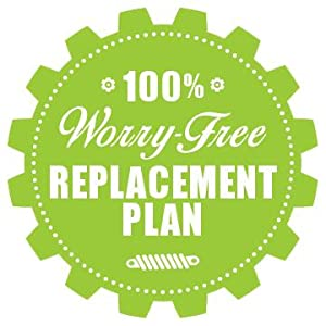 100% Worry-Free Replacement Plan