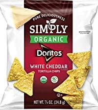simply organic doritos white cheddar tortilla chips no artificial healthy snack