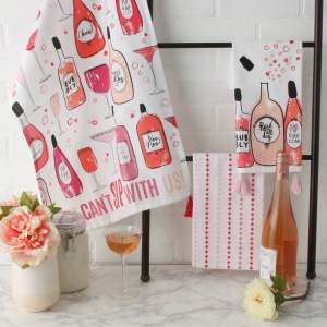 gin and tonic towel, old fashioned, retro towels; kitchen towels  kitchen towels,