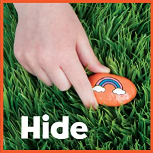 hide and seek rock painting, rock painting, rock art for kids, outdoor activities for kids, crafts